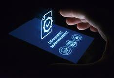 Concept de technologie d'Internet d'affaires de système de données de gestion de documents image stock