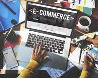Concept de technologie d'Internet d'email de Digital de commerce électronique photos libres de droits
