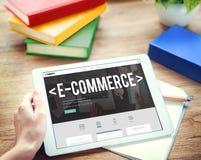 Concept de technologie d'Internet d'email de Digital de commerce électronique images libres de droits