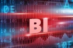 Concept de technologie de BI Photographie stock libre de droits