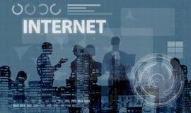 Concept de technologie de connexion de Digital de réseau informatique photographie stock libre de droits