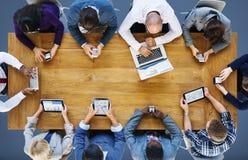Concept de technologie de dispositifs de Digital de connexion de communication images libres de droits