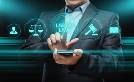 Concept de technologie de Legal Business Internet d'avocat de droit du travail Photographie stock libre de droits