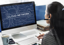 Concept de technologie de mise en réseau de connexion réseau de nuage Photos stock