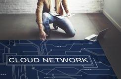 Concept de technologie de mise en réseau de connexion réseau de nuage Photo stock
