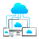 Concept de technologie de nuage Photographie stock libre de droits