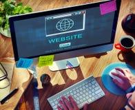Concept de technologie de SEO Online Website Web Hosting photo stock