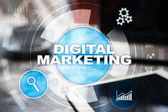 Concept de technologie de vente de Digital Internet En ligne Seo SMM advertising Photo libre de droits