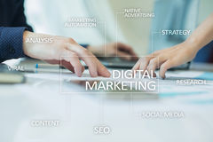 Concept de technologie de vente de Digital Internet En ligne Seo SMM advertising Image stock