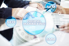 Concept de technologie de vente de Digital Internet En ligne Seo SMM advertising Photographie stock
