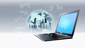 Concept de technologie de données Internet