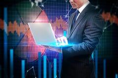 Concept de technologie et d'économie photos stock