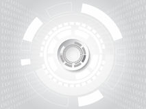 Concept de technologie et de code binaire sur le fond blanc Vecteur i Photo libre de droits