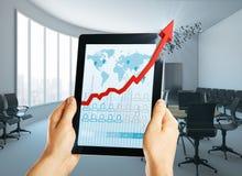 Concept de technologie et de revenu Photo stock