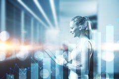 Concept de technologie et de finances photo stock