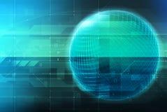 Concept de technologie et globe rougeoyant Photo stock
