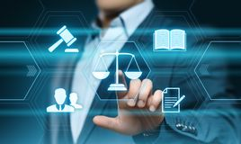 Concept de technologie de Legal Business Internet d'avocat de droit du travail Image stock
