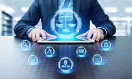 Concept de technologie de Legal Business Internet d'avocat de droit du travail image libre de droits