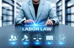 Concept de technologie de Legal Business Internet d'avocat de droit du travail Illustration de Vecteur