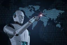 Concept de technologie de mondialisation illustration de vecteur