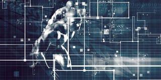 Concept de technologie neuve illustration stock