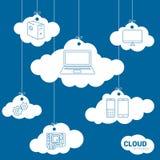 Concept de technologie de réseau de nuage Images libres de droits