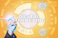 Concept de technologie de vente de Digital Internet En ligne Optimisation de moteur de recherche Seo SMM advertising illustration stock