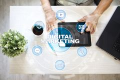 Concept de technologie de vente de Digital Internet En ligne Optimisation de moteur de recherche Seo SMM advertising photo libre de droits