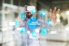 Concept de technologie de vente de Digital Internet En ligne Optimisation de moteur de recherche Seo SMM advertising Illustration Libre de Droits