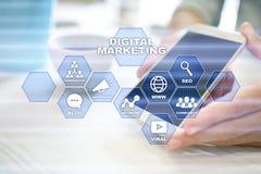 Concept de technologie de vente de Digital Internet En ligne Optimisation de moteur de recherche Seo SMM advertising Illustration de Vecteur