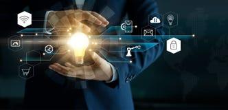 Concept de technologies d'innovation d'affaires illustration stock