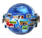 Concept de technologies de télécommunication et de medias Images stock