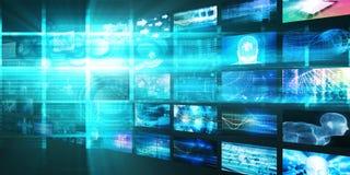 Concept de technologies de médias illustration libre de droits