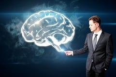 Concept de tempête et d'innovation de cerveau Photo stock