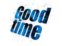 Concept de temps : Bon temps sur le fond de Digital Photos libres de droits