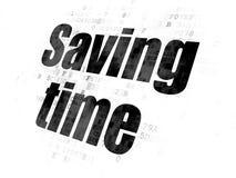 Concept de temps : Temps d'économie sur le fond de Digital Photo stock