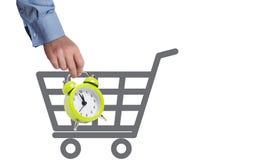 Concept de temps d'achats Images libres de droits