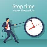 Concept de temps d'arrêt blanc de métaphore d'isolement par affaires illustration stock