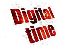 Concept de temps : Temps de Digital sur le fond de Digital Illustration de Vecteur