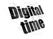 Concept de temps : Temps de Digital sur le fond de Digital Illustration Stock