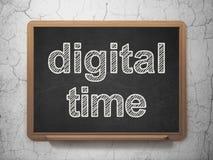 Concept de temps : Temps de Digital sur le fond de tableau Photo libre de droits