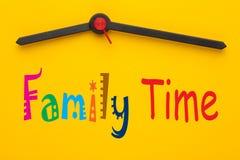 Concept de temps de famille images stock