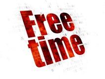 Concept de temps : Temps gratuit sur le fond de Digital Images libres de droits