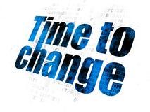 Concept de temps : Heure de changer sur le fond de Digital Image libre de droits