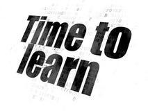 Concept de temps : Heure d'apprendre sur le fond de Digital Image stock