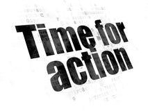 Concept de temps : Heure pour l'action sur le fond de Digital Photo libre de droits