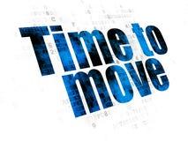 Concept de temps : Heure de se déplacer sur le fond de Digital Photos stock