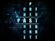 Concept de temps : mot au delà en résolvant des mots croisé Image libre de droits