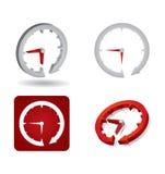 Concept de temps, signe abstrait d'horloge Photographie stock