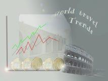Concept de tendensen van de wereldreis Stock Fotografie